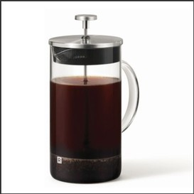 Cafetiere a piston en verre