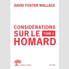 Considerations sur le homard t.02