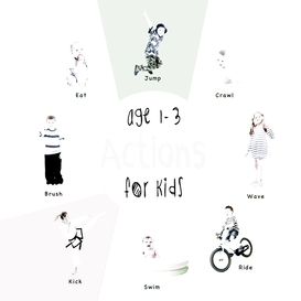 Actions for kids age 1-3 (engage early readers: children's learning books)